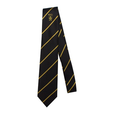 Whakatane HS Tie Black/Gold/Stripes